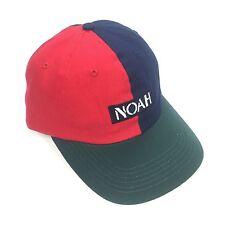 NWT Noah NY Mens Retro Colorblock Multicolor Logo Dad Hat Baseball Cap AUTHENTIC