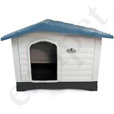 Plastic Dog Kennel XL Pet House Weatherproof Indoor Outdoor Animal Shelter