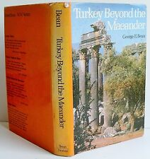 1980 2nd ed TURKEY BEYOND THE MAEANDER George E Bean illustrated HB DJ VGC