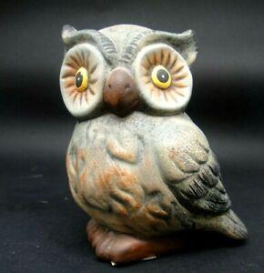 STATUINA IN CERAMICA DIPINTA GUFO GUFETTO - OWL - -