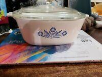 Vintage Corning ware blue cornflower P-1.5 qt - B casserole with pyrex lid