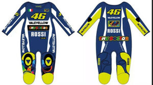 Vr46 Official Baby Grow Play suit Valentino Rossi Moto GP Yamaha Clothing