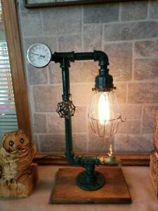 Vintage Handcrafted Industrial Pipe Retro steampunk reading table,desk lamp