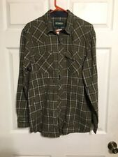 Outdoor Life Long Sleeve Green Plaid Shirt Mens Size M NWT