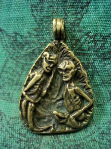 Mugaleepon Voodoo Huanted Doll Skeleton Skull Ghost Talisman Thai Amulet Pendant