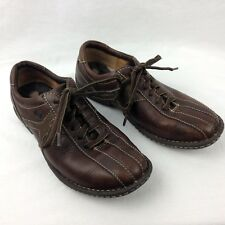 Born Leather Oxford Casual Shoes Brown Lace Up Bicycle Toe Walking Womens Size 6