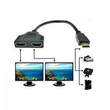 Switch 1080p Cable Splitter Male To 2 Female HDMI 1 In 2 Out Converter
