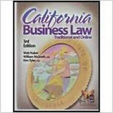California Business Law  by Walter Roy Huber Paperback 2011