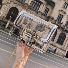 New Fashion Womens Shoulder Bag Small Handbag Transparent Clear Messenger Purse