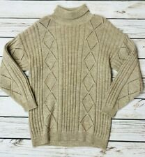 Womens Vintage Richard Roberts Roll Neck Cable Knit Sweater Jumper Wool Large