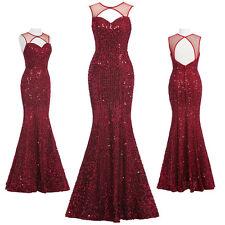 Weinrot Ballkleid Abendkleid Partykleider Lang Damen Brautkleider Kleid Gr:32~46