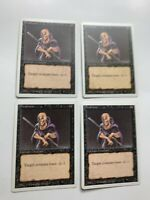 4x Vintage Playset of WEAKNESS MTG 3rd Edition / Revised  Magic the Gathering