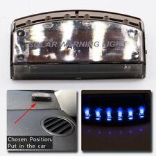 Blue Solar Energy Car Anti-Theft Security Alarm Warning Theft Flash Sensor Light