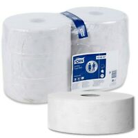 6 Giant Toilet Paper Rolls Soft 2-Ply Leaf Design Cost Efficient School Office