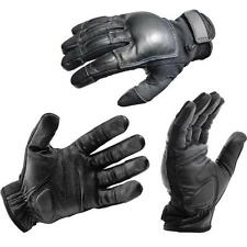 L OFFICIAL LEATHER POLICE TACTICAL REAL WEIGHTED SAP GLOVES (LIFETIME WARRANTY)
