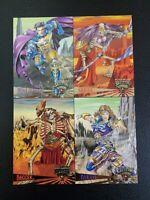 SKELETON WARRIORS 1995 FLEER ULTRA UNCUT 4-CARD PROMO CARD SHEET mint
