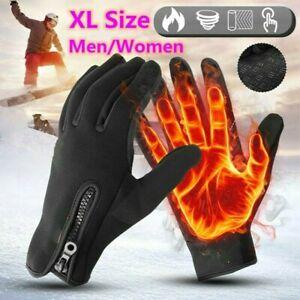 Thermal Windproof Waterproof Winter Gloves Touch Screen Warm Mittens Men XL Size
