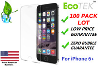 100x Wholesale Lot Tempered Glass Screen Protector for Apple iPhone 6 Plus 5.5""