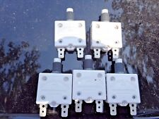 Lot of 5 Mechanical Products 20 amp circuit breaker  125/250 volt 1600-037-200