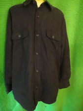 Eddie Bauer Men's Brown  Button Front Jacket Sz L QUILTED LINED
