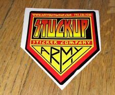 Vintage Stuckup Sticker Company Guitar decal KISS Army Parody Rock Collectors