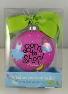 Coton Colors Baby Girl Christmas Ornament Born To Shop Pink Green New Baby NEW