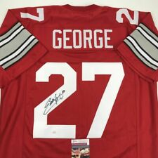 Autographed/Signed EDDIE GEORGE Ohio State Red College Football Jersey JSA COA