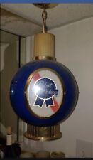 Pabst Blue Ribbon Beer Vintage Sign Light Hanging Chandelier Bar Top 4-side 1964