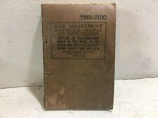 TM 5-5100. Compressor, Air, Diesel, Wheel mnt. Ingersoll-Rand Model IK-315, 1943