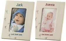 Belleek Living Precious Memories Inscribed 4x6 Photo Frame Baby Gift Boy/Girl