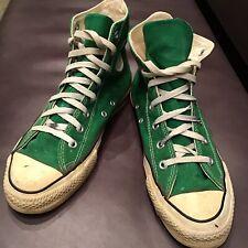 c5b3b7918dcf Vintage Kelly Green Converse Made in USA - Size 7 Rare Hitops Irish Celtics  Flaw