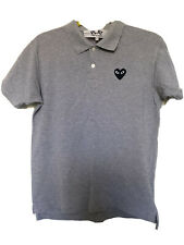 Comme Des Garcons Play Mens Grey Polo Shirt Large