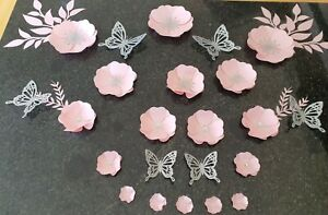 Paper flowers wall decor