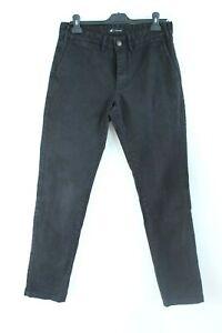 Montage Black Denim Skinny Men Jeans with Zipper and Pockets Size 31 EU M
