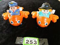 Fisher Price  Mattel 2001double seat 2x Airoplanes Little people figures BUNDLE