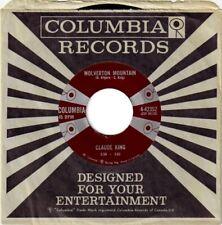 "Claude King - Wolverton Mountain RARE OOP ORIG Columbia 4 Eyes 45 rpm 7"" (Mint!)"