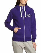X0158a adidas Damen Kapuzenpullover Logo Essentials Fleece Collegiate Lila 40