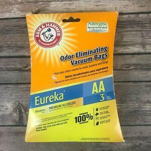 2 Arm & Hammer Odor Eliminating Vacuum Bags Eureka AA 62619B Premium Allergen