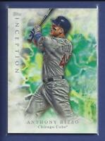Anthony Rizzo  2017 Topps Inception Card # 7  Chicago Cubs Baseball 1B MLB