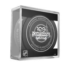 2017 NHL Detroit v Toronto 100th Centennial Classic On-Ice Hockey Puck W/Cube