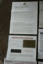 Vintage 1981 Playboy Club Key Card & Documentation Complete