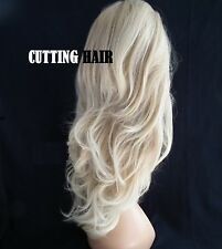 Sexy Highlighted Layers Blonde mix Curly Med Long Lace Front Wig L14-27/613