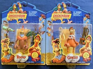 Chicken Run Action Figures Ginger w/tunnel digger &  Rocky w/Spy Scope