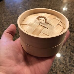 Real Miniature Bamboo Steamer