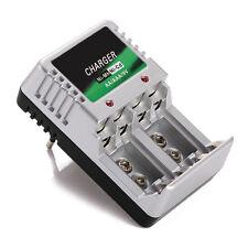 Caricabatterie Caricatore da Parete Presa EU Ricarica Batteria AA AAA 18650