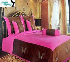 Embroidery Angel Wings Texas Western Cross Luxury Comforter Suede 7 Pieces Set K