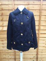 Joules Navy Blue Rain Coat Size 8 Lightweight Waterproof Jacket Right As Rain