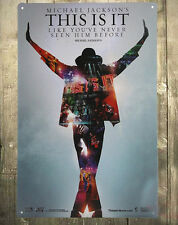 1-PC Michael Jackson  Concert Tin Metal Sign Poster THIS IS IT