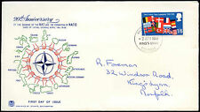 GB FDC 1969, la NATO, Kings Lynn IED #C 32016