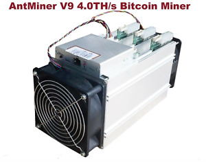 V9 Model Antminer Bitcoin Miner BTC Bitmain 4TH/s BCH ASIC with PSU